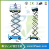 8m Hydraulic Battery Moving Electric Scissor Lift Platform with Ce
