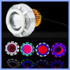 10W Car Motorcycle Dual Angle Eye Halo Projector Lens Headlight