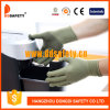 Ddsafety 2017 Bamboo Green Nylon /Polyester Gloves with Black PVC Dots