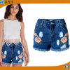 2017 Summer Fashion Women Embroidery Shorts Cotton Short Jeans