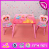 Hot Sale Kids Writing Table and Chair for Preschool, High Quality Kids Furniture Wooden Table and Chair Set W08g150