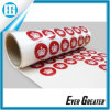 Custom Red Round Adhesive Sticker Printing White Crown
