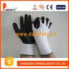 White Nylon Black PU Glove Dpu416