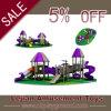 New Design Purple Grey Mixed Outdoor Children Playground Slide (X1515-10)