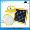 Round Solar LED Light with PV Solar Panel Handcrank Kit
