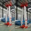 12m Aerial Mobile Mast Lift Push Around Personl Lift Aluminum One Person Lift