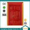 Customize Solid Wood Unequal Red Oak Double Door