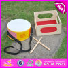 2015 Fashional Wooden Kids Musical Drum Toy, Best Seller Children Wooden Drum Play Set, Musical Instrument Round Drum Toy W07j033