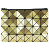 Elegant Magic Cube Gold PU Handbag for Cosmetics