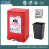 Customized Make Colorful Metal Foot Pedal Dustbin Recycling Bin