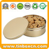 Food Grade Metal Golden Tin Without Printing for Cookies Biscuits