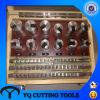 HSS Metric/Inch Keyway Broaching Tool Set with Bushing