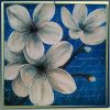White Frangipani Flowers Canvas Oil Painting (LH-039000)