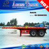 2 Axles Flatbed Semi Trailer, 20FT Container Flatbed Semi-Trailer