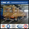 Cimc Huajun 3axle Gooseneck Stake/Cargo Semi Trailer with Roof Stick