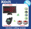 Restaurant Wireless Buzzer System with Display and Wrist Pagers