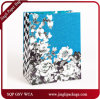 2017 Iridescent Shopping Floral Gift Paper Bags Heavy Glitter Floral Bags
