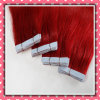Fancy Color Brazilian Human Hair Skin Weft Straight 20inches