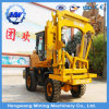 Hw Guardrail Hydraulic Pile Driver, Wheels Pile Driver Machine