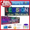 P10 LED Display 14X65 Inch Programmable Scrolling Color SMD Message Board Waterproof
