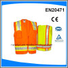 Reflective Safety Vest with Pockets and Zipper Fasten