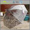 Zebra Print PVC Lady Fashion Clear Dome Umbrella