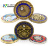Factory Customized Challenge Coin Rope Edge 3D Embossed Enamel Challenge Coin Gold Brass Plating Coin