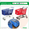 180L Grocery Store Plastic Shopping Trolley Cart