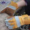 Nmsafety Cow Split Leather Working Glove (CS603DP-Y/BR)