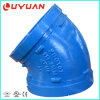 FM UL Approval Grooved Pipe Coupling and Ductile Iron Elbow for Water Supply Pipeline