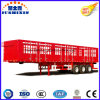 Side Wall Container and Logos Transport Flatbed Stake Semi Trailer