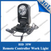 35W Magnetic Work Light, Remote Control HID Driving Light, Hot Selling Work Lamp