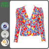 2016 Deep V Neck 1980s Folower Printed Jacket