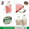 Striped Sturdy Canvas Tote Shopping Bag Handbags