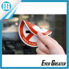 Red, White and Black Three Color Labels Glass Sticker