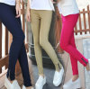 New Arrivals Fashion Cotton Women Leggings Pencil Pants Lady Panties Zipper Slim Trousers Skinny Capris