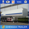 3 Axles 60000L Stainless Fuel Tanker Truck Trailer / Fuel Transport Tanker