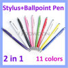 Colorful 2 in 1 Ball Pen Stylus Touch Pen for iPad/ iPhone Tablet PC