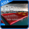 Customized Red Fashion Inflatable Pool / Inflatable Square Shape Swimming Pool