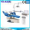 Ce Approved Luxury Dental Chair with 9 Programs, LED Operating Light, Movable Cabinet, Ceramic Spittoon