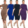 OEM Polyester Sexy Women Large Plus Size Dress