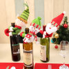 Santa Snowman Wine Bottle Holder Gift, 2 Asst-Christmas Decoration