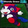SBR Latex Backing Carton Artificial Grass Carpet with Multicolor