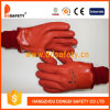 Ddsafety 2017 Orange PVC Smooth/Sandy Finished Glove with Acrylic Boa Liner