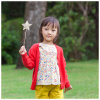 Phoebee Red Wool Girls Knitted Cardigan for Spring/Autumn