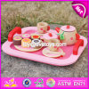 New Design Pretend Play Toys Girls Pink Wooden Tea Set Toy W10b181