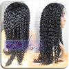 Cabelo 100% humano Curly do Virgin da venda por atacado Ladies'wig