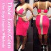 White Rosy Two-Tone Bodycon Skirt Set