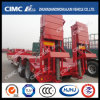 13m 2axle Lowbed Semi-Trailer with Hydraulic Ramp