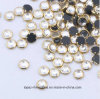 Shine Stone Nail Strass Metal Rimmed Rhinestones Silver Gold Rimmed Stone (HF-SS10/3mm)